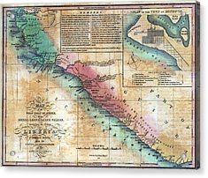 Map Of The West Coast Of Africa Acrylic Print by Everett