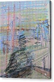 Maple Leaf Quay Acrylic Print by Marwan George Khoury