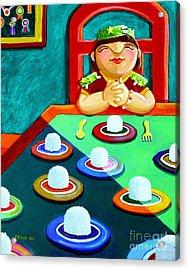 Marami Ka Pang Kakaining Bigas Acrylic Print by Paul Hilario