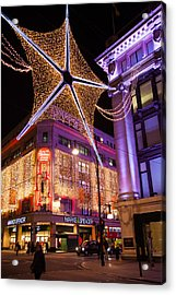 Marble Arch Christmas Acrylic Print by Adam Pender