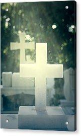 Marble Crosses Acrylic Print by Joana Kruse