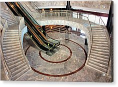 Marble Staircases Acrylic Print by Kristin Elmquist