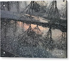 Marble Sunset Acrylic Print