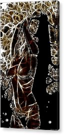 Marble Woman Acrylic Print by Shan Peck