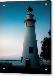 Marblehead Lighthouse Dusk Acrylic Print by John Traveler