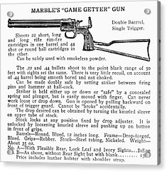 Marbles Game Getter Gun Acrylic Print by Granger