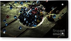 Marbles In A Bowl Acrylic Print