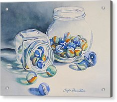 Marbles On Review Acrylic Print