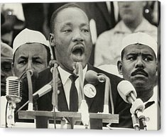 March On Washington. Martin Luther King Acrylic Print by Everett