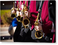Marching Band Saxophones  Acrylic Print by James BO  Insogna