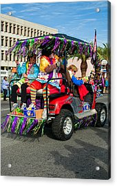 Mardi Gras Clowning Acrylic Print by Steve Harrington
