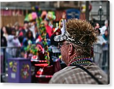 Acrylic Print featuring the photograph Mardi Gras Man by Jim Albritton