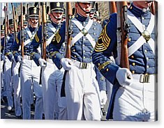 Mardi Gras Marching Soldiers Acrylic Print by Kathleen K Parker