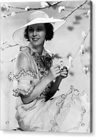 Margaret Sullavan, 1934 Acrylic Print by Everett