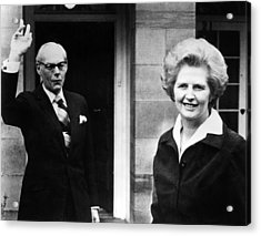 Margaret Thatcher Right Acrylic Print by Everett