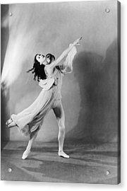 Margot Fonteyn 1919-1991 And Michael Acrylic Print by Everett