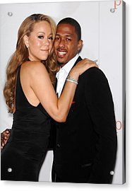 Mariah Carey, Nick Cannon At Arrivals Acrylic Print by Everett