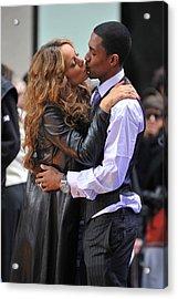 Mariah Carey, Nick Cannon At Talk Show Acrylic Print by Everett