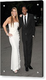 Mariah Carey Wearing A Georges Chakra Acrylic Print by Everett