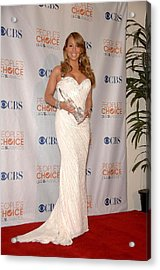 Mariah Carey Wearing A Ysa Makino Gown Acrylic Print by Everett