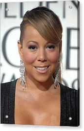 Mariah Carey Wearing Chopard Earrings Acrylic Print