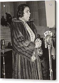 Marian Anderson 1897-1993, At A Nbc Acrylic Print by Everett