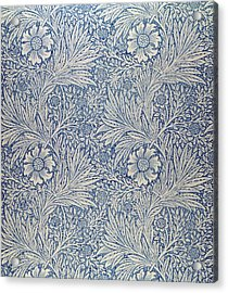 Marigold Wallpaper Design Acrylic Print by William Morris