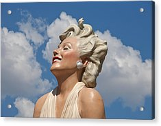 Marilyn In The Clouds Acrylic Print by Matthew Bamberg