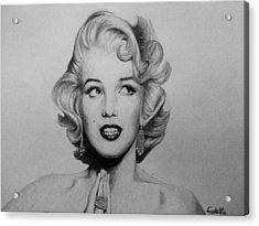 Marilyn Monroe 2 Acrylic Print by Carlos Velasquez Art