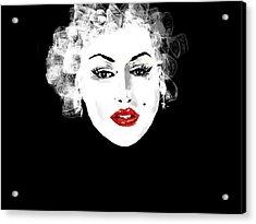 Acrylic Print featuring the digital art Marilyn Monroe by Rc Rcd