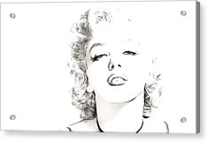 Marilyn Monroe Acrylic Print by Tilly Williams