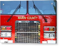 Marin County Fire Department Fire Engine . Point Reyes California . 7d15922 Acrylic Print by Wingsdomain Art and Photography