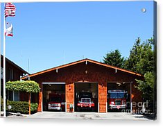 Marin County Fire Department . Point Reyes California . 7d15919 Acrylic Print by Wingsdomain Art and Photography