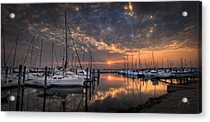 Acrylic Print featuring the photograph Marina At Fort Monroe by Williams-Cairns Photography LLC