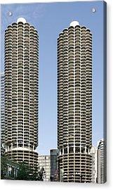 Marina City Chicago - Life In A Corn Cob Acrylic Print by Christine Till