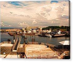 Marina Of Rhode Island Acrylic Print by Lourry Legarde