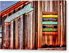 Marina Store Signs Acrylic Print by Trudy Wilkerson