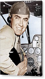 Marine Lieutenant Tyrone Power Acrylic Print by Everett