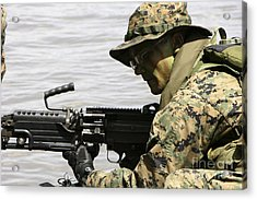 Marine Provides Front Security Acrylic Print