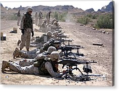 Marines Fire Their M240g Medium Machine Acrylic Print