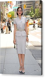 Marion Cotillard Wearing A Dior Suit Acrylic Print by Everett