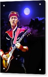 Mark Knopfler Guitar Hero Acrylic Print by Steve K