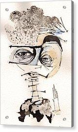 Mark M. Mellon With Glasses Acrylic Print by Mark M  Mellon