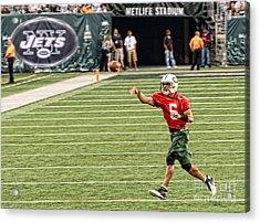 Mark Sanchez Ny Jets Quarterback Acrylic Print by Paul Ward