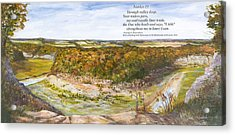 Marker 21 With Poem Acrylic Print by George Richardson