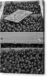 Market Cherries Acrylic Print by Georgia Fowler