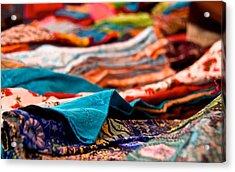Market Colors In Mauritius Acrylic Print by Renata Apanaviciene