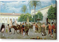 Market Day In Spain Acrylic Print by Filippo Baratti