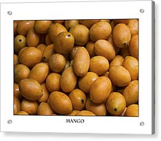 Market Mangoes Against White Background Acrylic Print by Zoe Ferrie