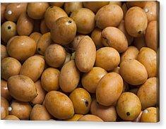 Market Mangoes II Acrylic Print by Zoe Ferrie